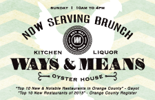 Ways & Means Oyster Bar Sunday Brunch