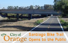 Santiago Bike Trail Opens to the Public