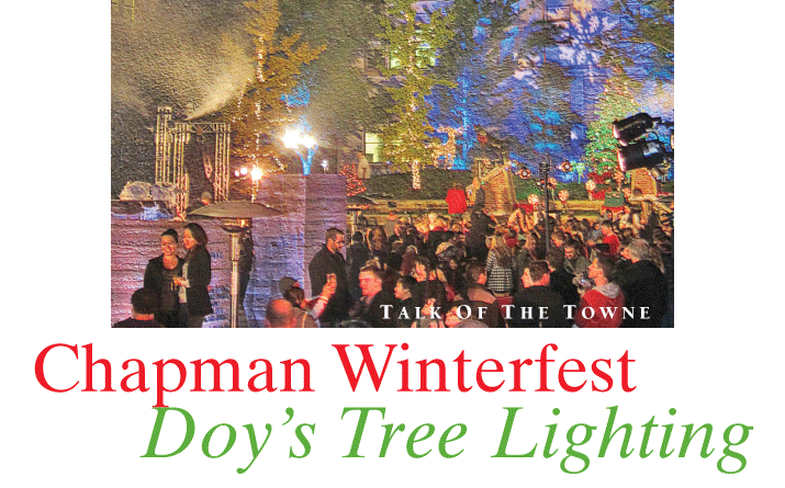 Chapman Winterfest Doy's Tree Lighting
