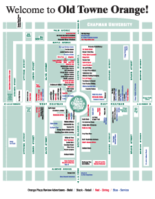 Old Towne Orange Plaza Map